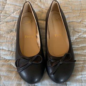 Christian Louboutin Black Bow Ballet Flats